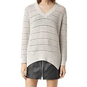 All Saints V neck sweater sz M